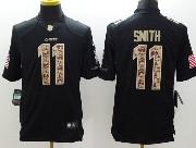 Mens Nfl Kansas City Chiefs #11 Smith Salute To Service Black Limited Jersey