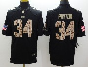 mens nfl Chicago Bears #34 Walter Payton salute to service black limited jersey
