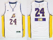 Mens Nba Los Angeles Lakers #24 Bryant (2014 New Christmas) White Jersey