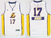Mens Nba Los Angeles Lakers #17 Jeremy (2014 New Christmas) White Jersey