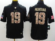 Mens Nfl Kansas City Chiefs #19 Montana Salute To Service Black Limited Jersey
