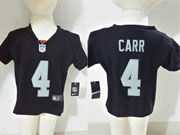 kids nfl Oakland Raiders #4 Derek Carr black jersey