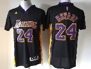 Mens Nba Los Angeles Lakers #24 Bryant Black (short Sleeve) Jersey