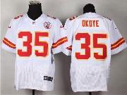 Mens Nfl Kansas City Chiefs #35 Okoye White Elite Jersey