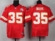 Mens Nfl Kansas City Chiefs #35 Okoye Red Elite Jersey