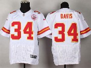 Mens Nfl Kansas City Chiefs #34 Davis White Elite Jersey