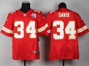 Mens Nfl Kansas City Chiefs #34 Davis Red Elite Jersey