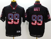 mens nfl new Houston Texans #99 JJ Watt black (2014 usa flag fashion) elite jersey