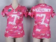 women  nfl San Francisco 49ers #7 Colin Kaepernick pink camo game jersey
