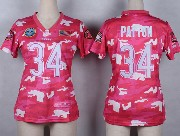 women  nfl Chicago Bears #34 Walter Payton pink camo game jersey