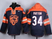 mens nfl Chicago Bears #34 Walter Payton blue (new single color) hoodie jersey