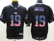 Mens Nfl Indianapolis Colts #19 Unitas Black (2014 Usa Flag Fashion) Elite Jersey