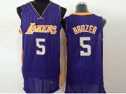 Mens Nba Los Angeles Lakers #5 Boozer Purple Jersey (sn)