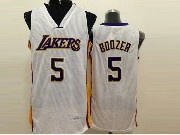 Mens Nba Los Angeles Lakers #5 Boozer White Jersey (sn)