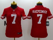 women  nfl San Francisco 49ers #7 Colin Kaepernick red limited jersey