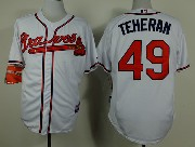 Mens mlb atlanta braves #49 teheran white Jersey