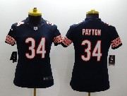 women  nfl Chicago Bears #34 Walter Payton blue limited jersey