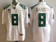 Mens Ncaa Nfl Oregon Ducks Custom Made White Mach Speed Limited Jersey