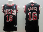 Mens Nba Chicago Bulls #16 Gasol Black (red Number) Jersey