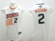 Mens Nba Phoenix Suns #2 Bledsoe White (black Number) Jersey