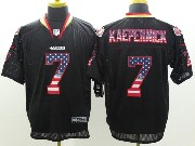 mens nfl San Francisco 49ers #7 Colin Kaepernick black (2014 usa flag fashion) elite jersey