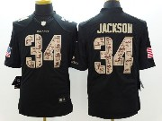 Mens Nfl Oakland Raiders #34 Bo Jackson Salute To Service Black Limited Jersey