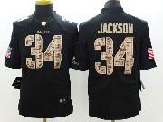 Mens Nfl Oakland Raiders #34 Bo Jackson Salute To Service Black Limited Jersey