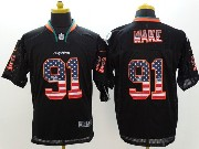 Mens Nfl Miami Dolphins #91 Wake Black (2014 Usa Flag Fashion) Elite Jersey