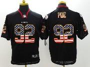Mens Nfl Kansas City Chiefs #92 Poe Black (2014 Usa Flag Fashion) Elite Jersey