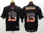 Mens Nfl Kansas City Chiefs #19 Montana Black (2014 Usa Flag Fashion) Elite Jersey