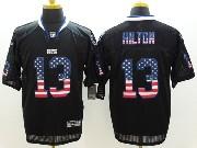 Mens Nfl Indianapolis Colts #13 Hilton Black (2014 Usa Flag Fashion) Elite Jersey
