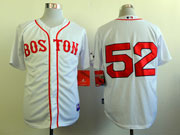 Mens Mlb Boston Red Sox #52 Jenks White (2014 New No Name) Jersey