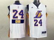 Mens Nba Los Angeles Lakers #24 Kobe (2014 New Christmas) White Jersey