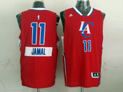 Mens Nba Los Angeles Clippers #11 Jamal (2014 New Christmas) Red Jersey