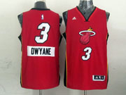 Mens Nba Miami Heat #3 Dwyane (2014 New Christmas) Red Jersey