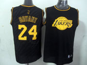 Mens Nba Los Angeles Lakers 24 Bryant Black Precious Metals Fashion Swingman Jersey