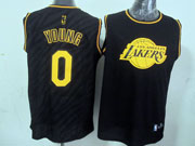 Mens Nba Los Angeles Lakers #0 Young Black Precious Metals Fashion Swingman Jersey