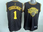Mens Nba New York Knicks #1 Stoudemire Black Precious Metals Fashion Swingman Jersey