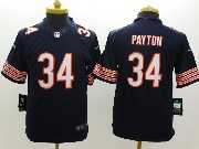 youth nfl Chicago Bears #34 Walter Payton blue limited jersey