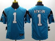 Youth Nfl Carolina Panthers #1 Cam Newton Blue Limited Jersey