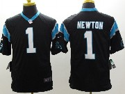 Mens Nfl Carolina Panthers #1 Cam Newton Black Limited Jersey