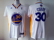 Mens Nba Golden State Warriors #30 Curry White (short Sleeve) Jersey