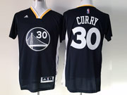 Mens Nba Golden State Warriors #30 Curry Black (short Sleeve) Jersey