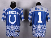Mens Nfl Indianapolis Colts #1 Mcafee Blue 2015 Noble Fashion Elite Jersey