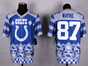 Mens Nfl Indianapolis Colts #87 Wayne Blue 2015 Noble Fashion Elite Jersey
