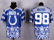 Mens Nfl Indianapolis Colts #98 Mathis Blue 2015 Noble Fashion Elite Jersey