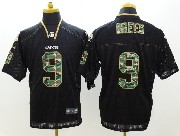 mens nfl New Orleans Saints #9 Drew Brees black 2014 camo fashion elite jersey