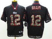 mens nfl New England Patriots #12 Tom Brady black 2014 camo fashion elite jersey