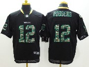 mens nfl Green Bay Packers #12 Aaron Rodgers black (2014 camo number fashion) elite jersey