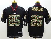 Mens Nfl Kansas City Chiefs #25 Charles Black (2014 Camo Number Fashion) Elite Jersey